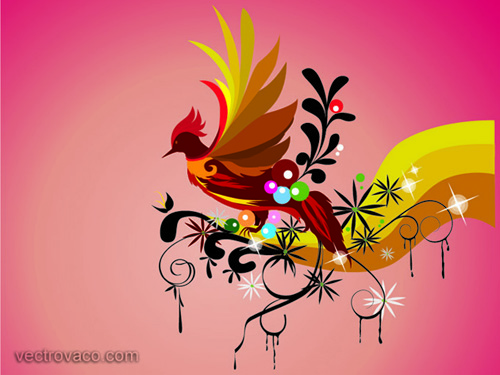 Vector Bird Illustration Vector Graphics