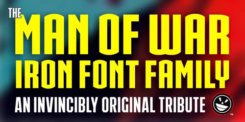 IRON MAN OF WAR Font