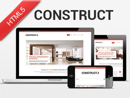 Construct – Responsive Template for Interior Designer