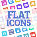 Post Thumbnail of Beautiful Flat Icons (90 items)