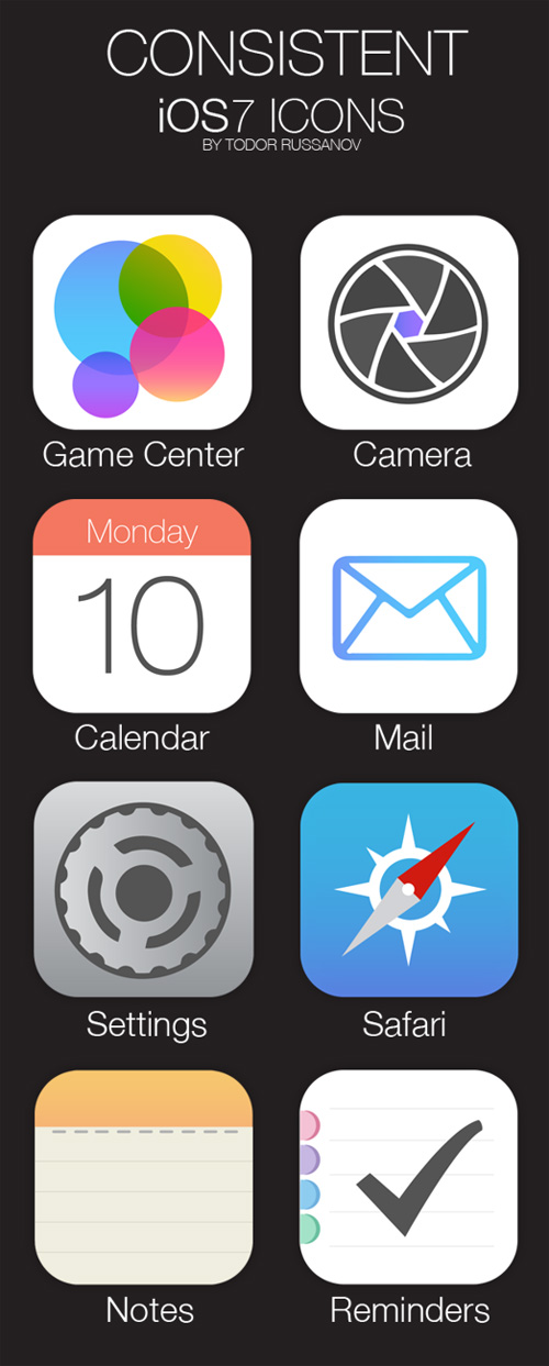 Consistent iOS7 Icons