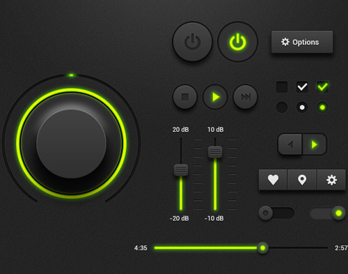 Dark Music Player UI Kit