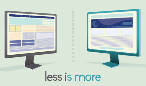 Less Cluttered Websites Less is More