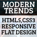 Modern trends: HTML5, CSS3, Responsive and Flat design