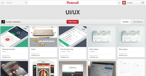 Best UIUX Pinterest Boards Must Follow-1