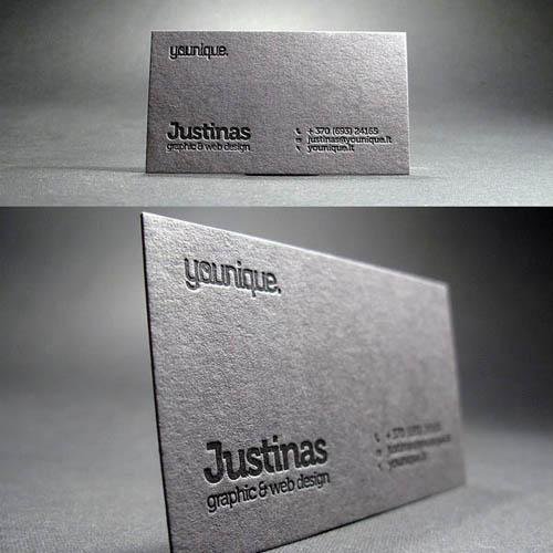 Black and white business cards design 50 inspiring examples black and white business cards design reheart Images