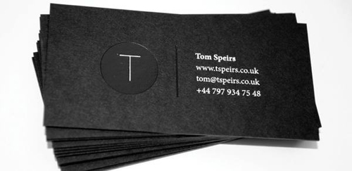 Black and white business cards design 50 inspiring examples 2 colours black and white business card colourmoves