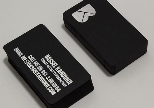 Black And White Business Cards Design 50 Inspiring Examples