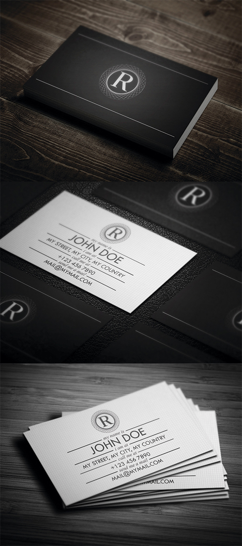 Black and White Business Cards Design (50 Inspiring Examples ...