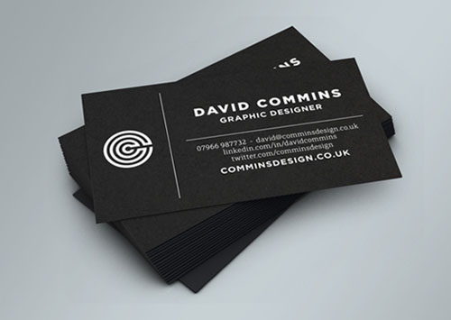Black and white business cards design 50 inspiring examples black and white business cards design reheart Gallery