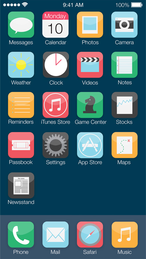 iOS7: Mobile OS Redesign Concept