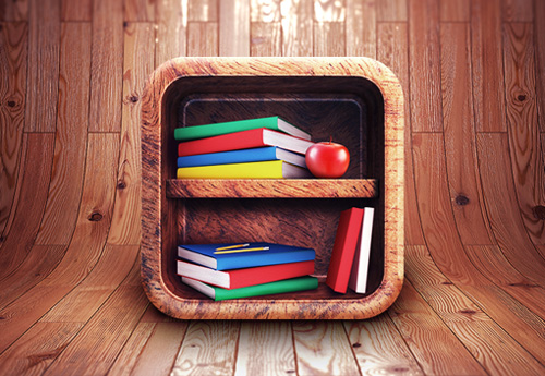 App Icon Design - Book Shelf
