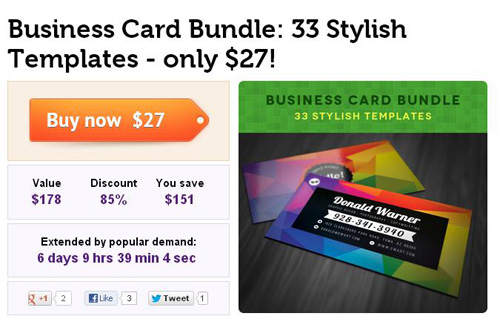 Business Card Bundle 33 Stylish Templates