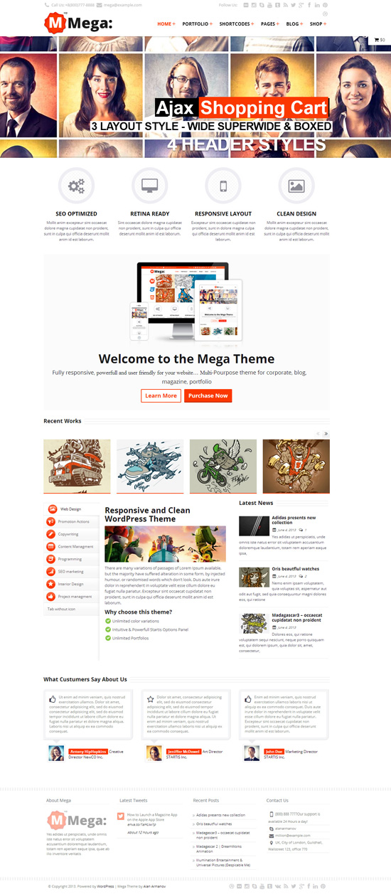 Mega Responsive Multi-Purpose Theme