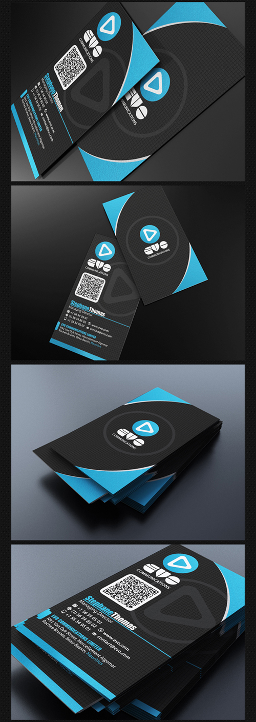Modern Blue Business Card
