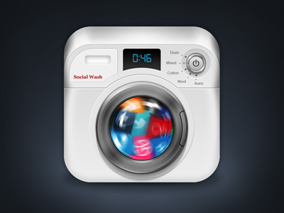 Washing Machine iOS Icon