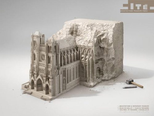 Architecture Museum Paris: Stone Advertising Poster-11