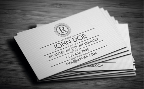 Business card back with all contact and online information