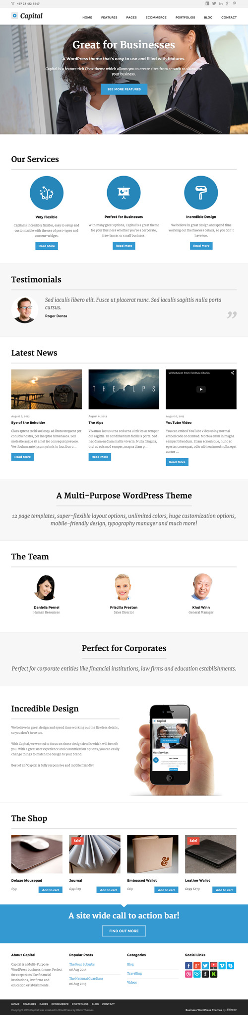 Capital - Multi-Purpose Business WordPress Theme