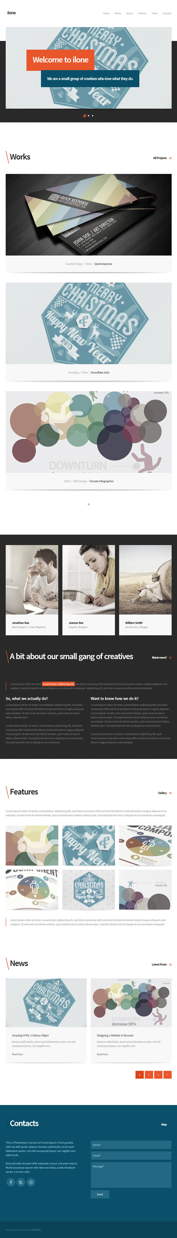 Ilone - One Page WordPress Theme