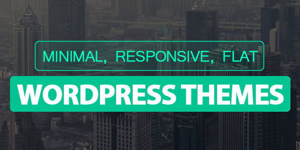 Minimal, Flat and Responsive Design WordPress Themes