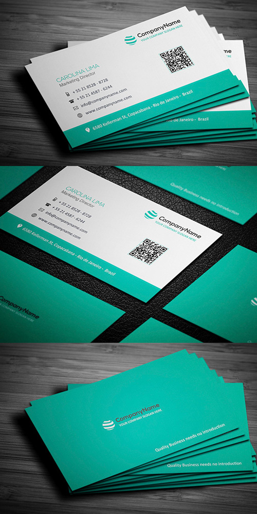 Barcode Corporate Business Card