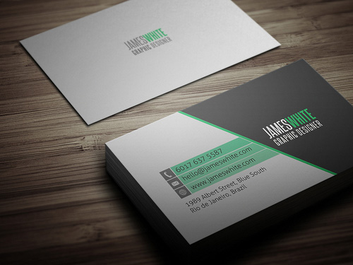 Modern business cards design graphic design junction simple business card 2 colourmoves