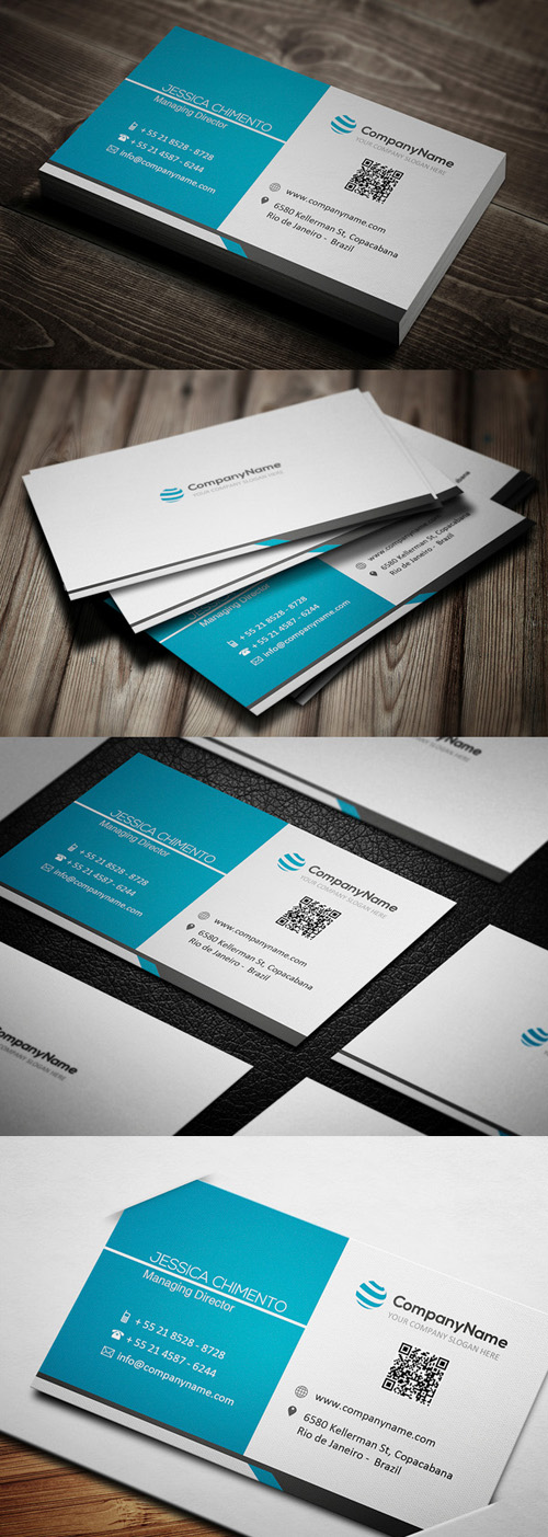 Modern business cards design graphic design junction blue business card reheart Images