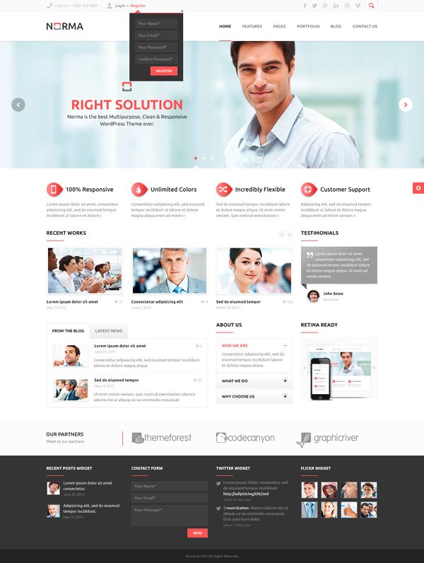 NORMA - Clean / Responsive WordPress Theme