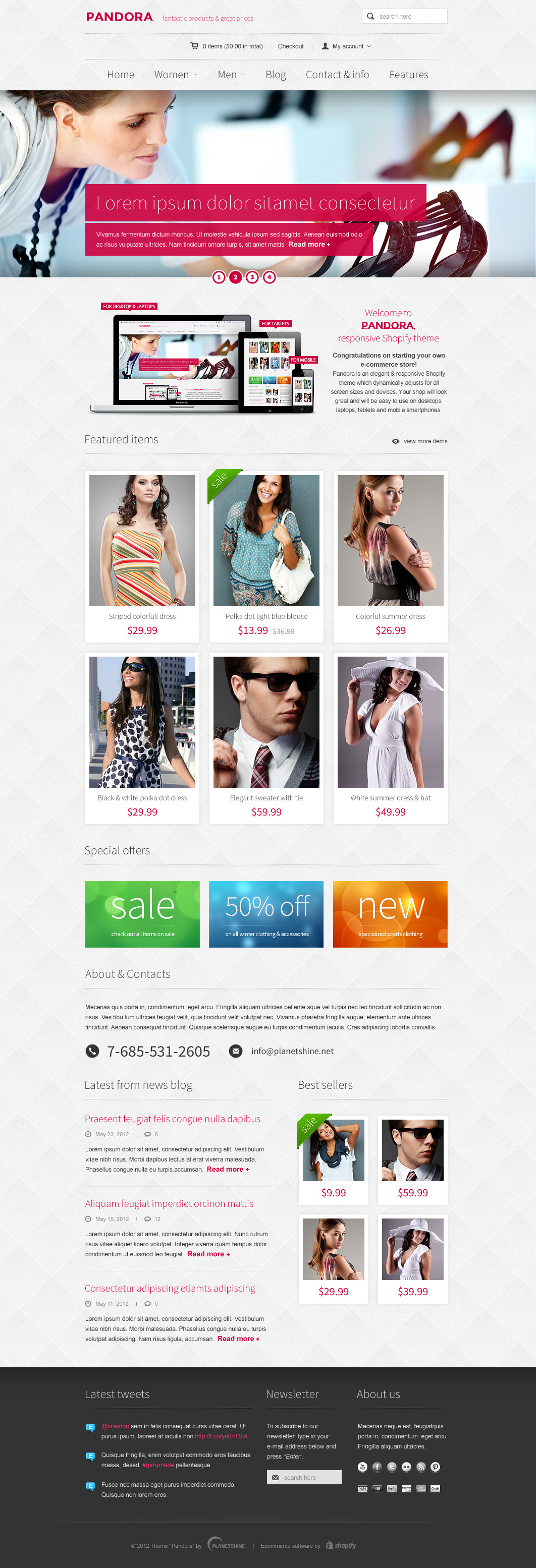 Pandora - Responsive WooCommerce HTML5 WordPress Theme