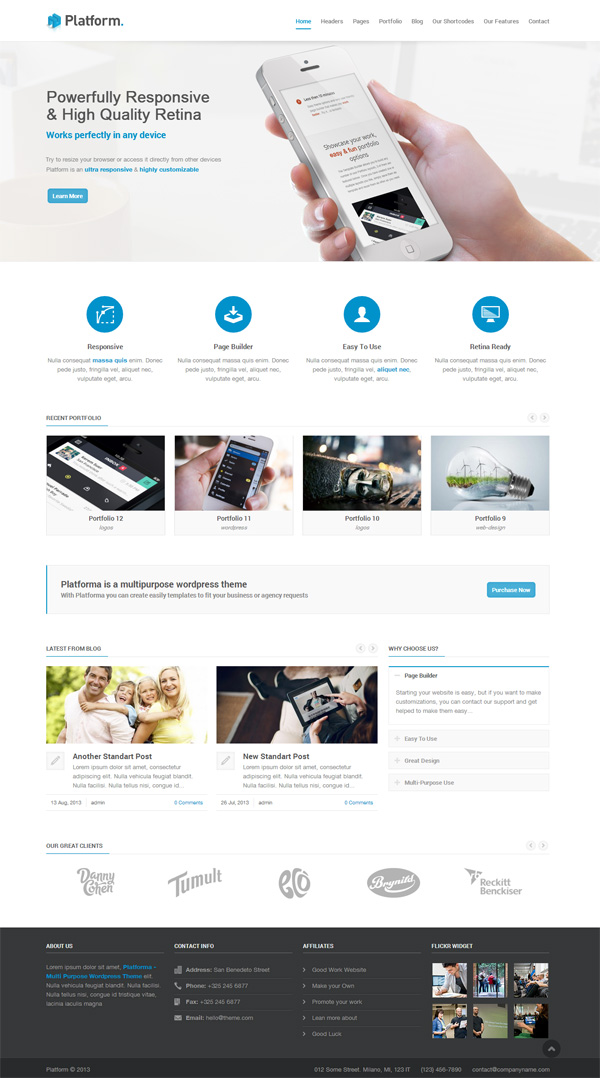 Platforma - Responsive Multi-Purpose Theme