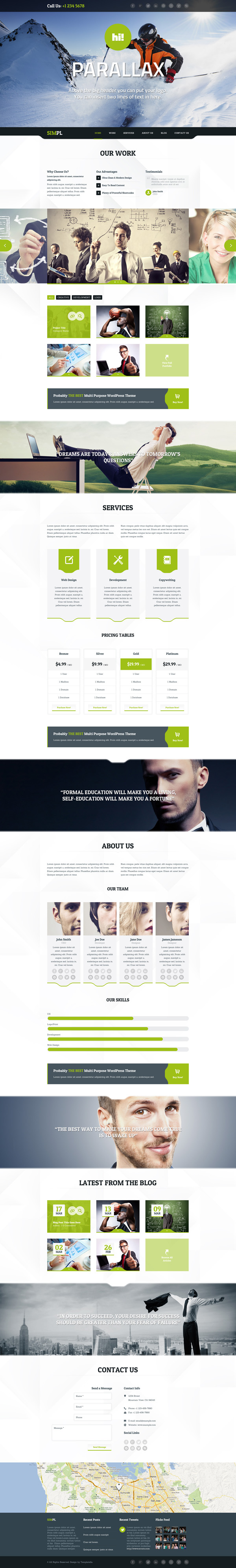 SIMPL - Clean Modern Portfolio & Business Theme