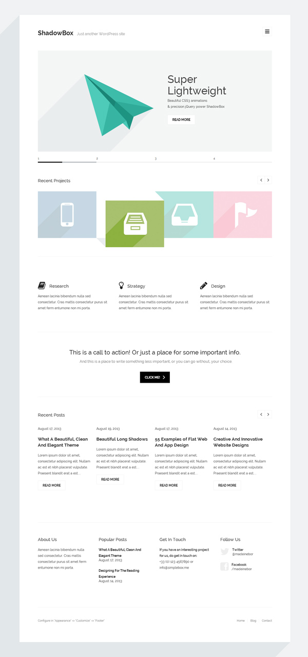 ShadowBox WP - Super Minimal WordPress Theme