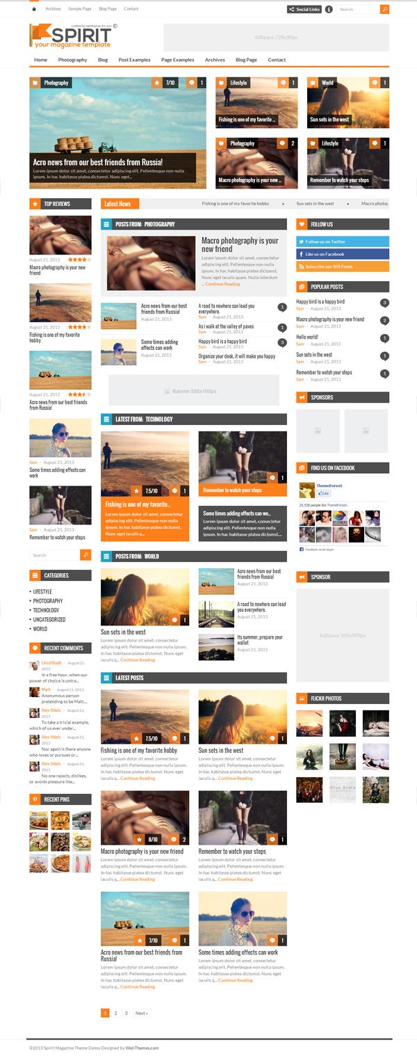 Spirit - Responsive WordPress Magazine Theme