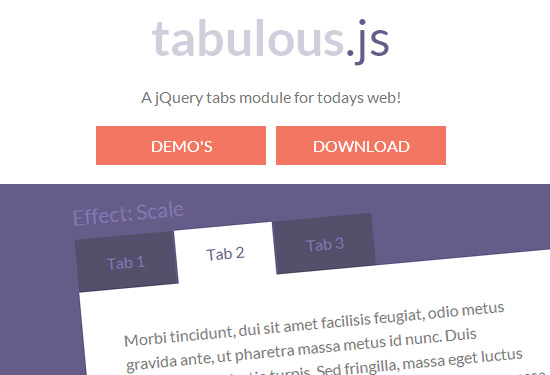 Tabulous.js: Create Tabs with Effects