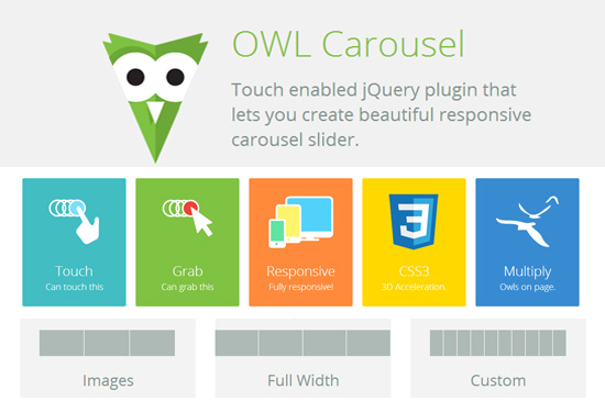 Owl Carousel: Touch-Enabled and Responsive Carousels jQuery Plugin