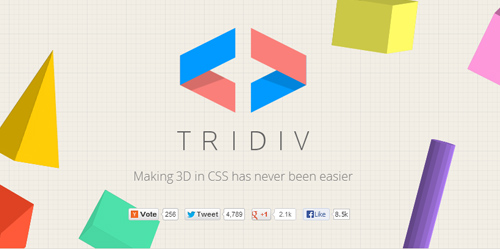 Tridiv: CSS 3D Shapes Editor