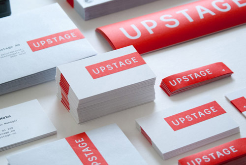Upstage identity Business card