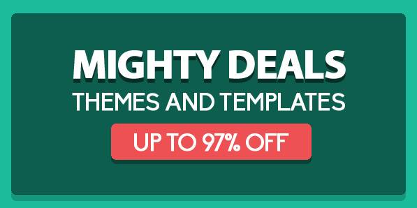 Mighty Deals – Themes and Templates Up To 97% Off