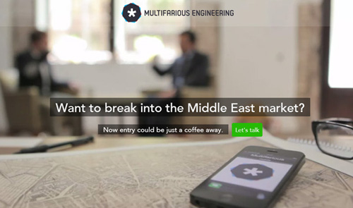 Multifarious Engineering One Page Website Design
