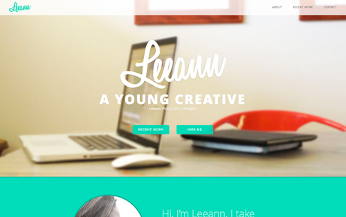 Leeann Pica One Page Website Design