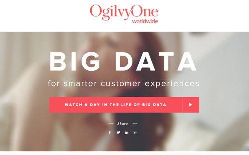 A day in Big Data One Page Website Design