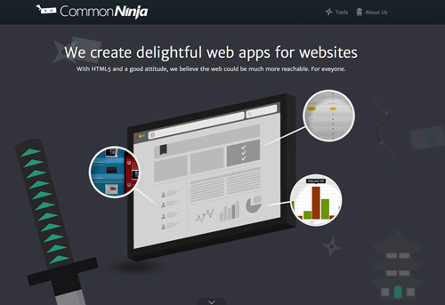Common Ninja One Page Website Design