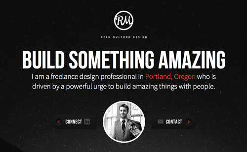 Ryan Mulford Design One Page Website Design