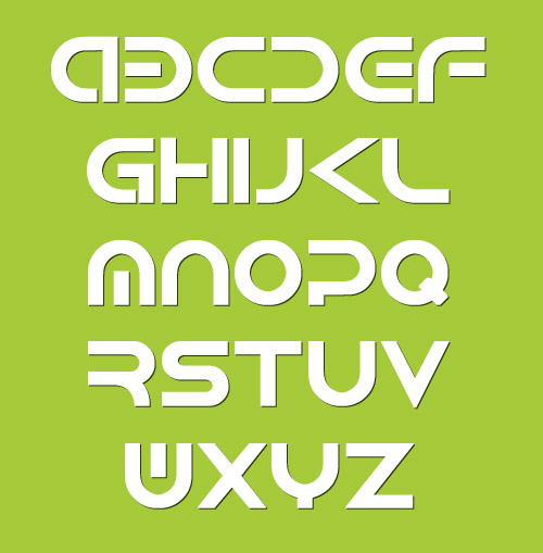 Android Fonts Letters