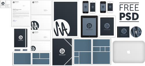 Corporate Identity Mockup Free PSD File
