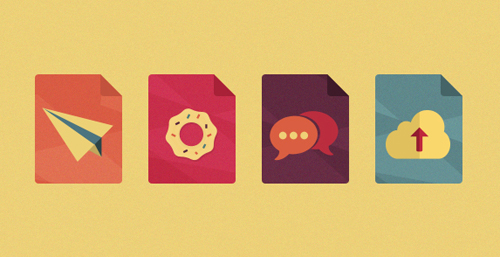 Freebie Flat Icons Free PSD File