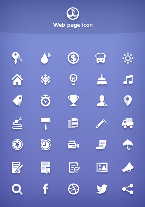 Free Simple Icons Free PSD File