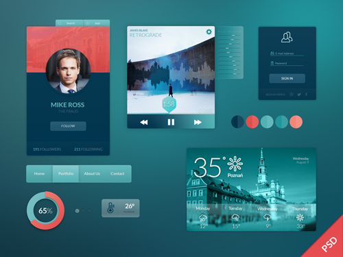 Freebie PSD: UI Kit