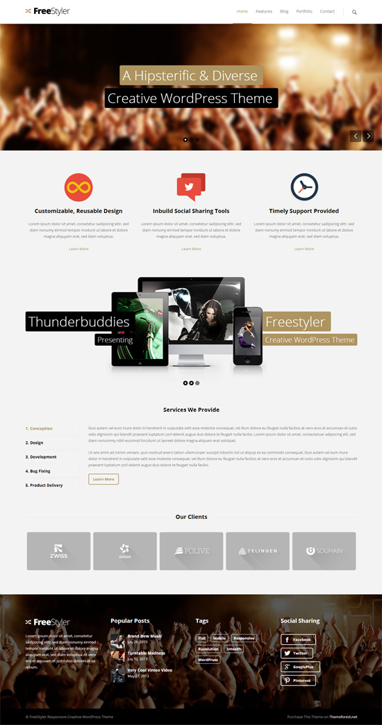 Freestyler - MultiPurpose WordPress Theme